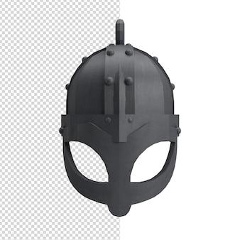 戦士のヘルメットのクローズアップ3d孤立したプレミアムps