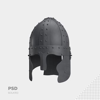 戦士のヘルメットのクローズアップ3d分離プレミアムpsd