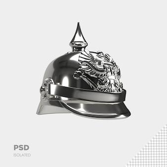 戦士のヘルメットの孤立したレンダリングにクローズアップ