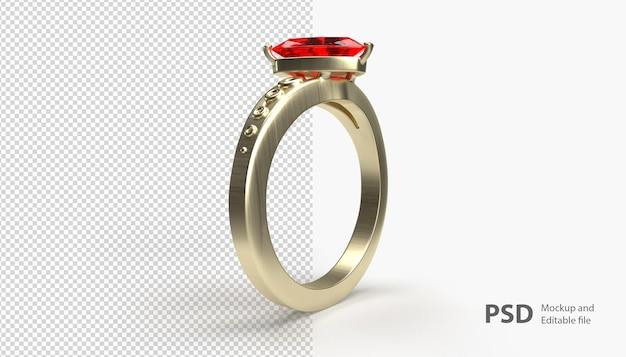 고립 된 결혼 반지에 가까이