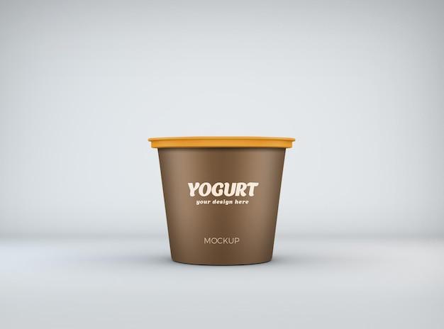 Крупным планом на дизайн макета йогурт изолированные