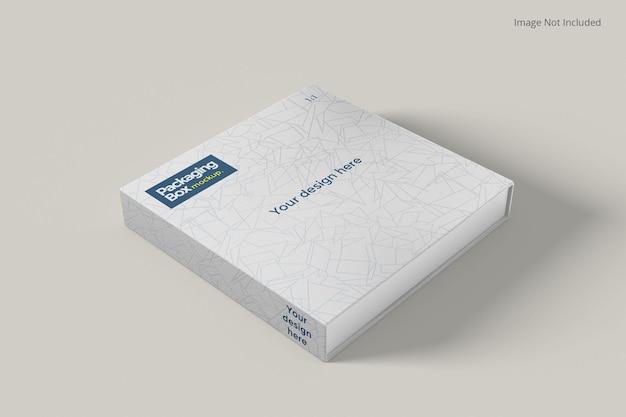 Close up packaging box mockup