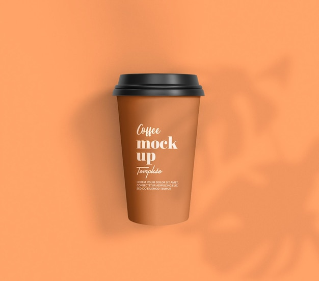 Close up on packaging of coffee cup mockup