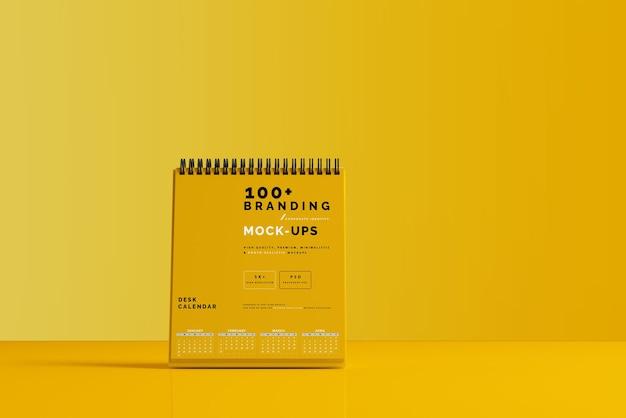 Close up on packaging of desk calendar mockup