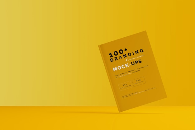 Close up on packaging of magazine mockup Premium Psd