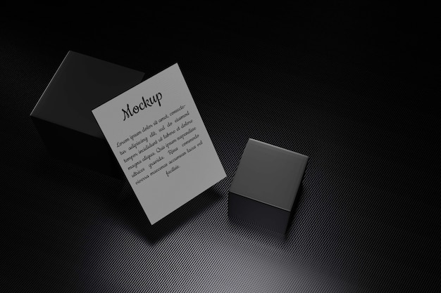 Close up on page mockup with design elements