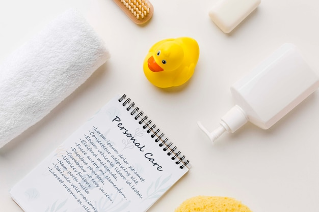 Close-up personal care bath accessories