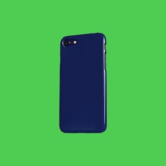 Close up on phone case mockup isolated