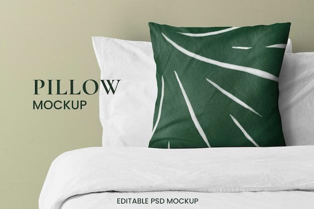 Close up on pillow mockup design