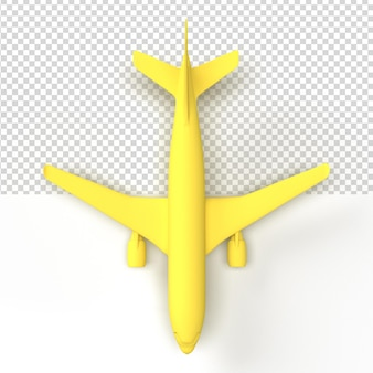 Close up on a plane in 3d rendering isolated