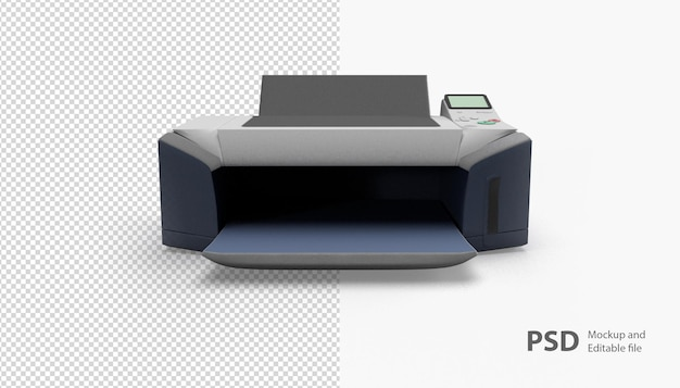Close up on printer isolated