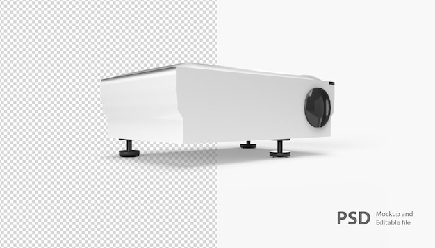 Close up on projector isolated