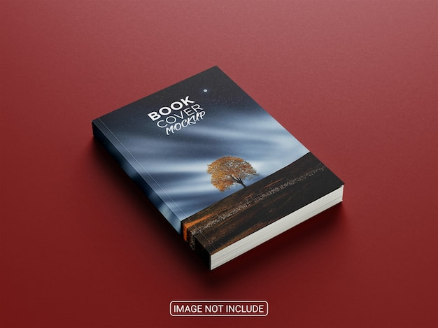 Close up on realistic book cover mockup