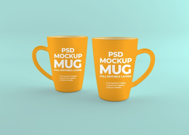 Close up on realistic mug mockup isolated