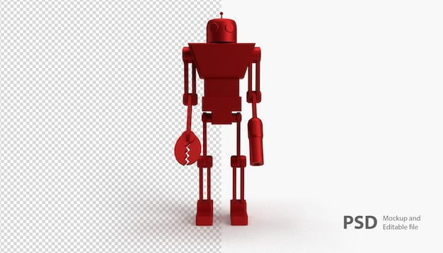 Close up on robot isolated