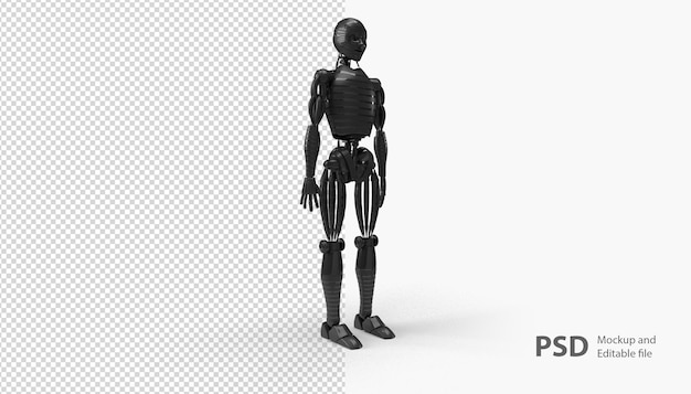 Close up on robot rendering