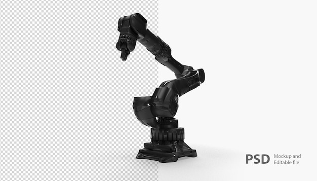 Close up on robotic hand isolated