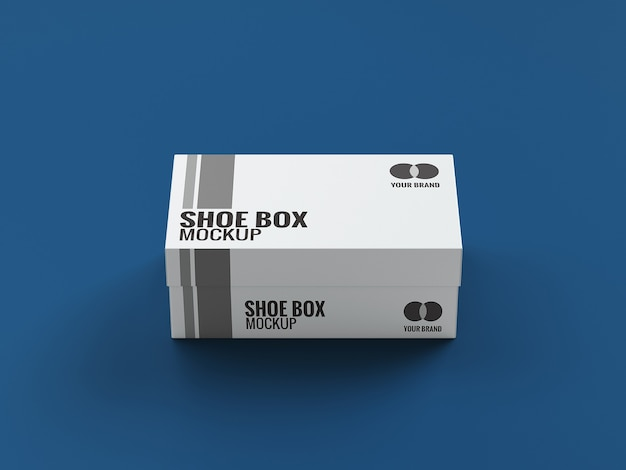 Close up on shoe box mockup design