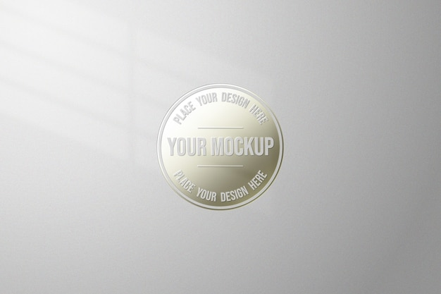 Close up on simple and elegant mockup isolated