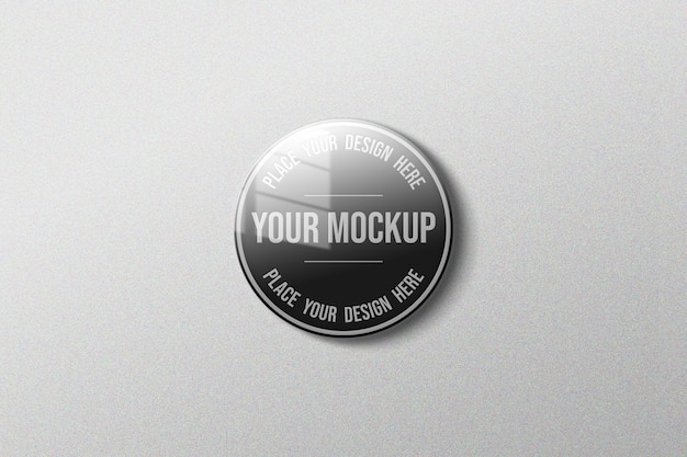 Close up on simple mockup isolated