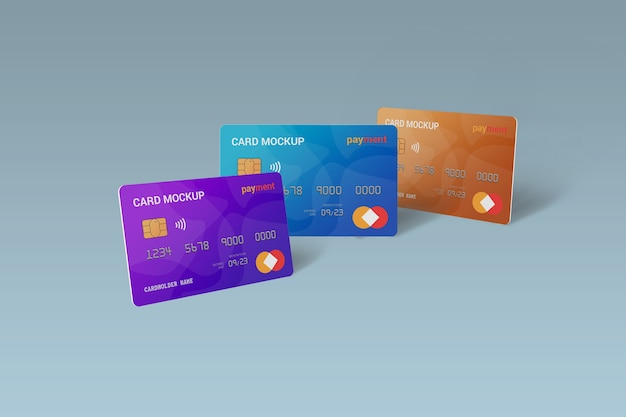Close up on smart card mockup design isolated