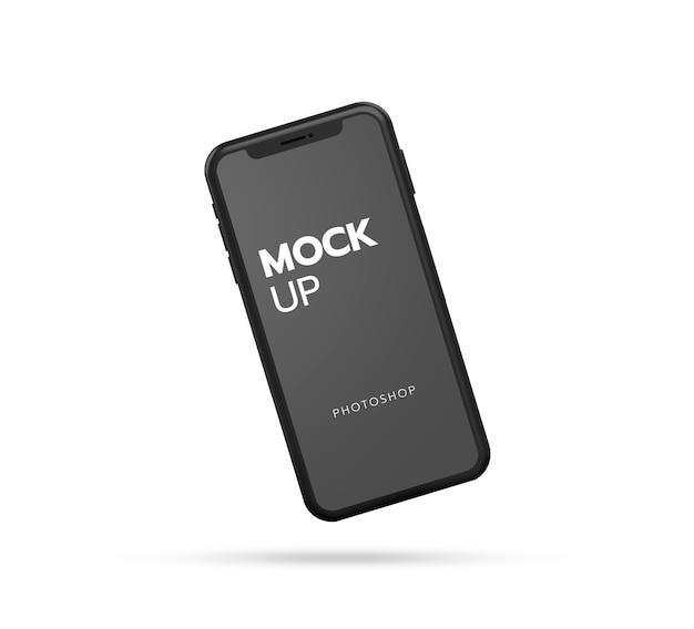 Close up on smartphone mockup