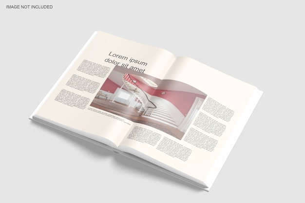 Close up on soft cover book mockup design