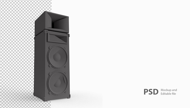 Close up on sound speaker isolated