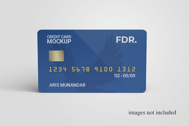 Close up on standing credit card mockup