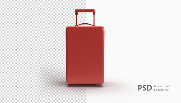 Close up on suitcase isolated in 3d rendering