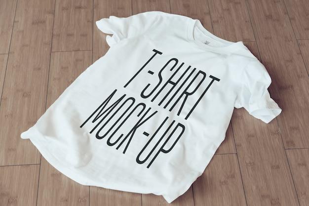 Close up of a t-shirt mockup