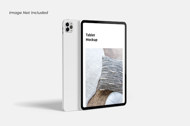 Close up on tablet device mockup isolated