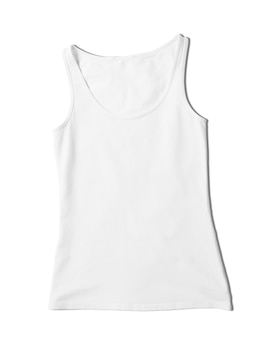 Close up on tank top mockup isolated