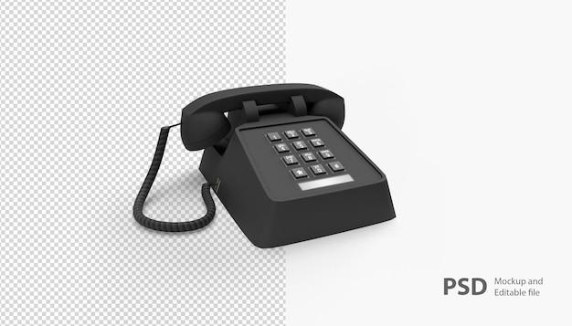Close up on telephone isolated
