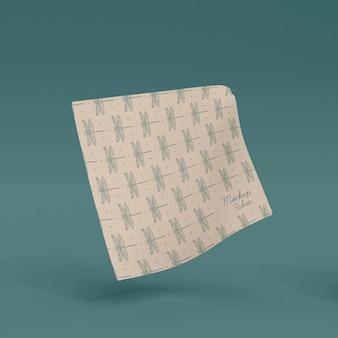 Primo piano sul modello di materiale tessile