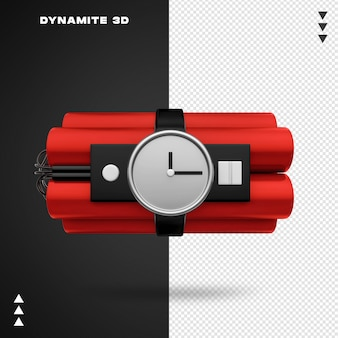 Close up on time bomb 3d rendering Premium Psd