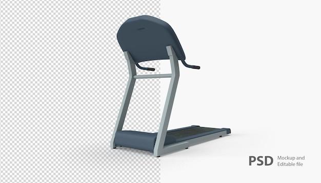 Close up on treadmill isolated