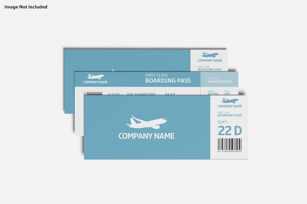 Close up on various purpose ticket mockup