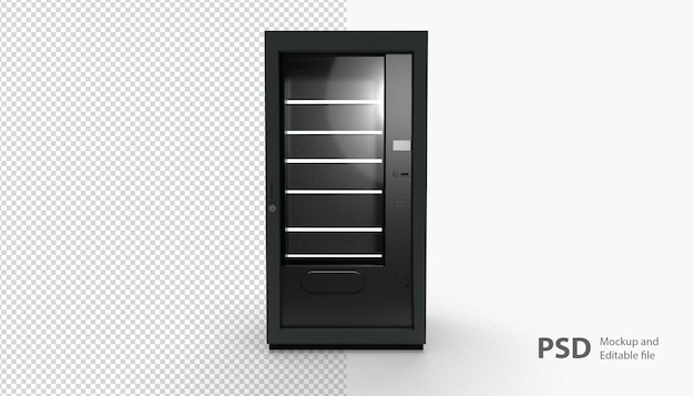 Close up on vending machine isolated