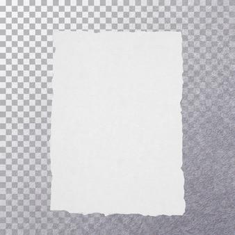 Крупным планом вид пустой белый старый документ