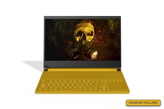 Close up view of gaming laptop mockup