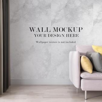 Макет стены комнаты крупным планом
