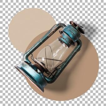 Крупным планом вид старинный фонарь изолированные