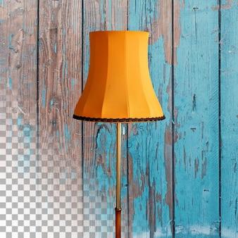 Крупным планом вид желтая ретро лампа