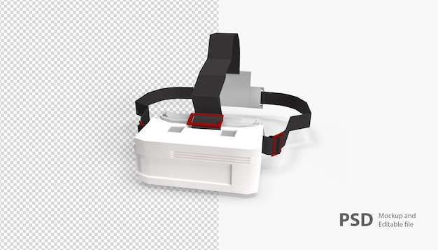 Close up on vr glasses isolated