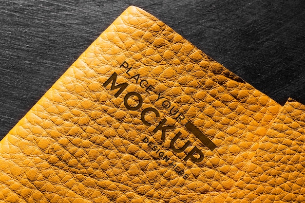 Close-up of yellow leather