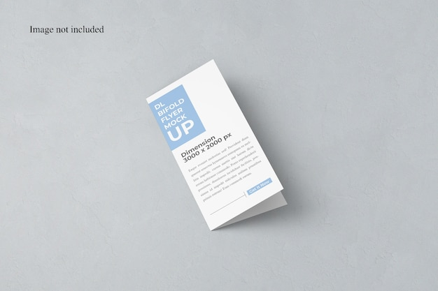 Closed bi-fold dl flyer mockup