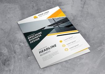 Closed brochure mockup