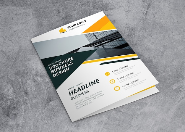 Closed brochure mockup