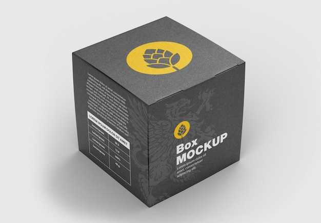 Закрытая картонная коробка 3d moc